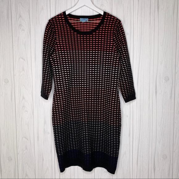 CeCe Dresses & Skirts - CeCe Jacquard Ombré Grid Ladies XL Dress